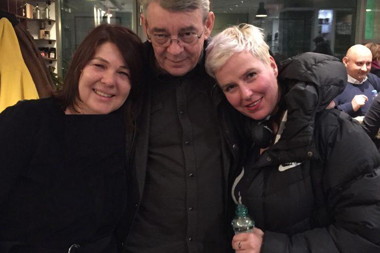 Anna Grusková, Blaho Uhlár a Lucia Piussi (foto archív A. Gruskovej)